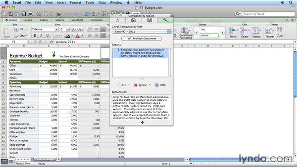Staying compatible with the Compatibility Report: Migrating from Excel 2008 for Mac to Excel 2011