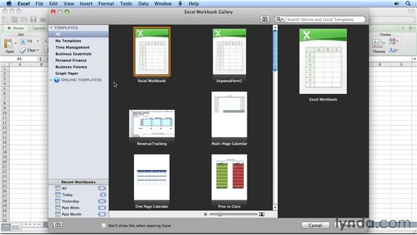Using Excel templates: Migrating from Excel 2008 for Mac to Excel 2011