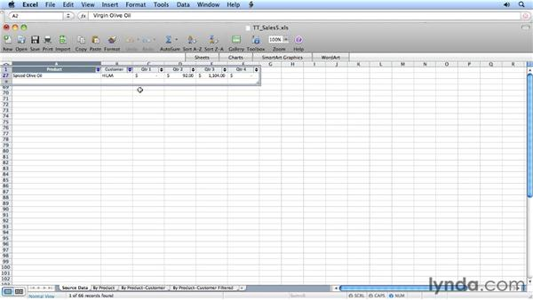 Working with tables: Migrating from Excel 2008 for Mac to Excel 2011
