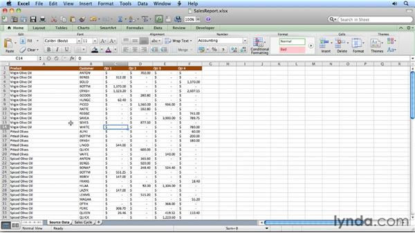 Creating PivotTable reports: Migrating from Excel 2008 for Mac to Excel 2011