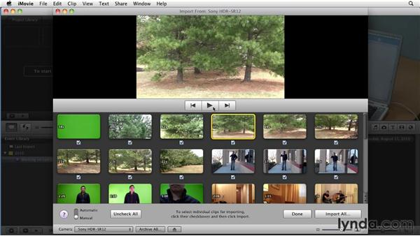Importing from a memory-based camera: iMovie 11 Essential Training