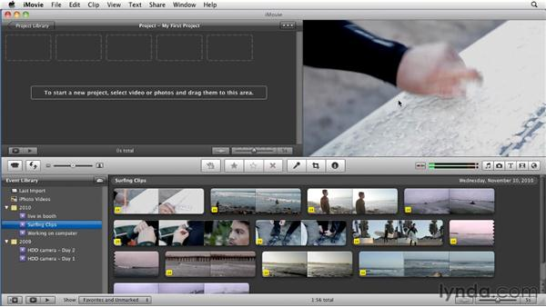 Interface overview: iMovie 11 Essential Training