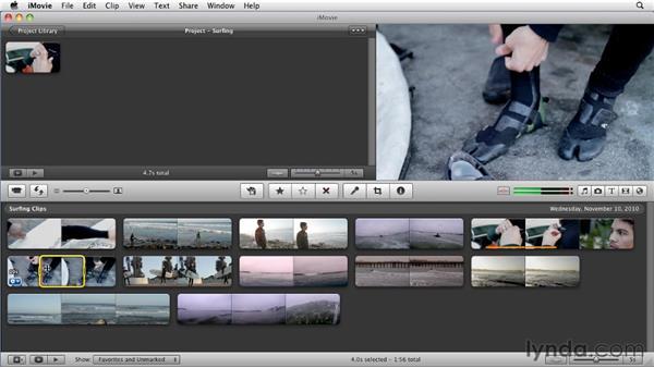 The toolbar: iMovie 11 Essential Training