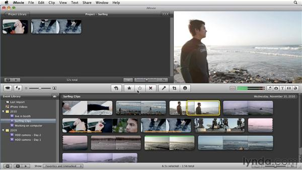 Rating clips: iMovie 11 Essential Training