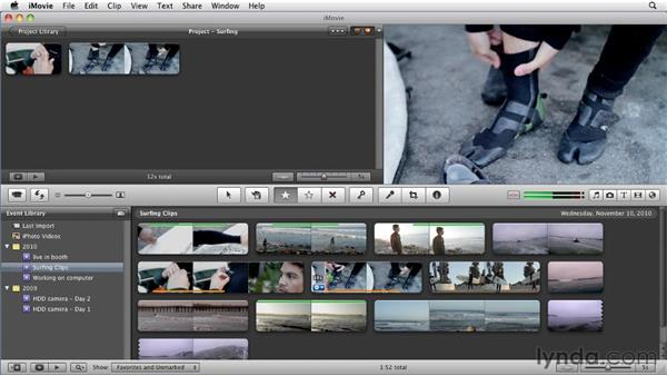 Advanced rating tools: iMovie 11 Essential Training