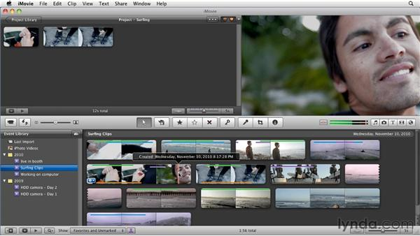 Automatically finding people in your clips: iMovie 11 Essential Training