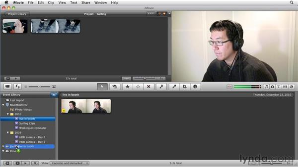 Moving events to a different hard drive: iMovie 11 Essential Training