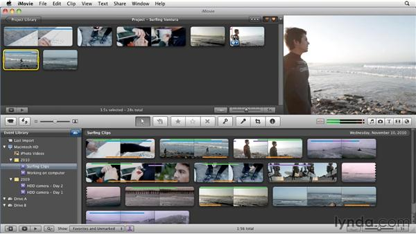 Cropping and rotating: iMovie 11 Essential Training
