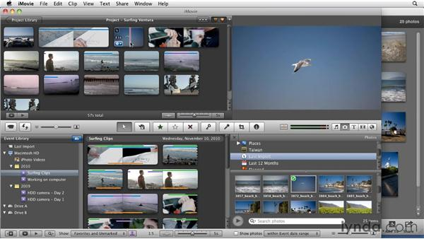 Incorporating photos: iMovie 11 Essential Training