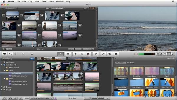 Using transitions: iMovie 11 Essential Training