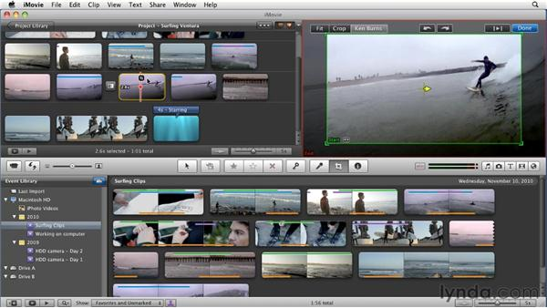 Using one-step effects: iMovie 11 Essential Training
