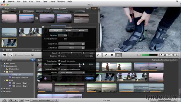 Stabilizing video: iMovie 11 Essential Training