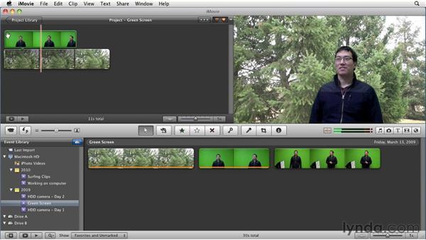 Using green screen effects