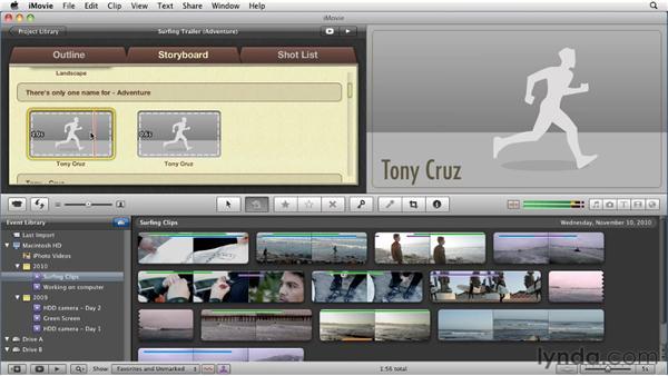 Creating movie trailers: iMovie 11 Essential Training