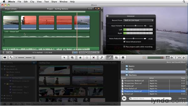 Adding a voiceover: iMovie 11 Essential Training