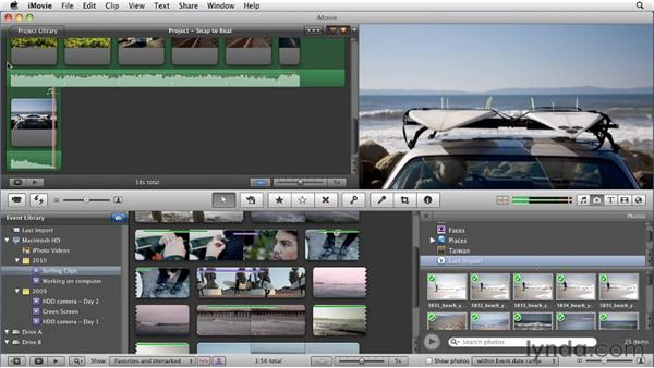 Editing to the beat: iMovie 11 Essential Training