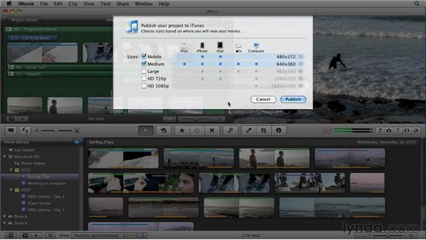 Exporting to iTunes: iMovie 11 Essential Training