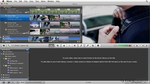 Moving a project to another Mac: iMovie 11 Essential Training
