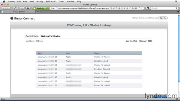 Checking the status of your application in iTunes Connect: Distributing Mac OS X Applications Through the App Store