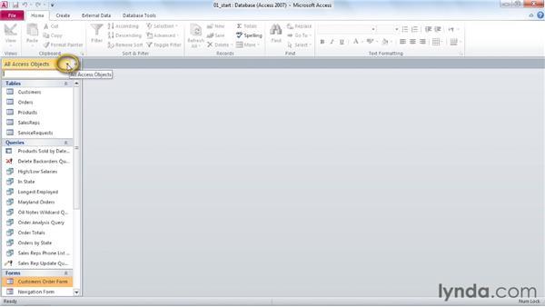 Customizing the Navigation pane: Access 2010 Power Shortcuts