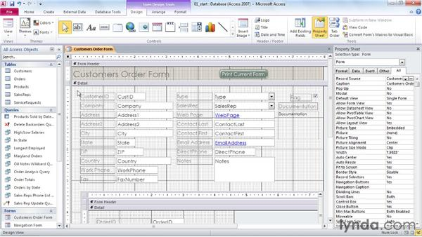 Selecting multiple form and report controls: Access 2010 Power Shortcuts