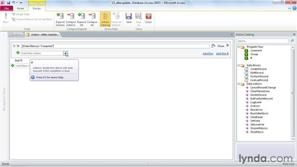 Creating an After Update macro to email a customer: Access 2010 Power Shortcuts