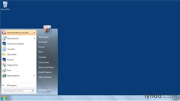Opening recent files: Access 2007 Power Shortcuts