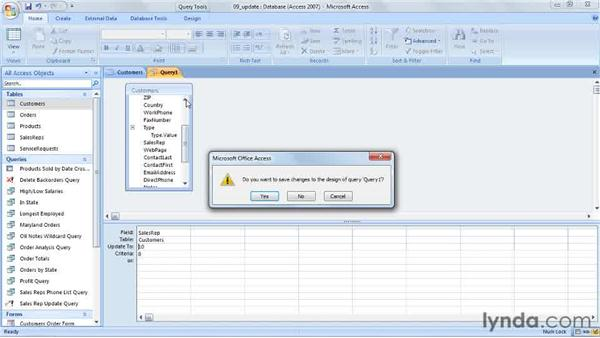 Creating an update query: Access 2007 Power Shortcuts