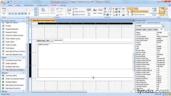 Creating tabbed form layouts: Access 2007 Power Shortcuts