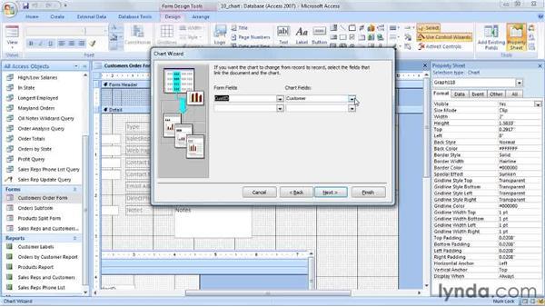 Inserting charts: Access 2007 Power Shortcuts