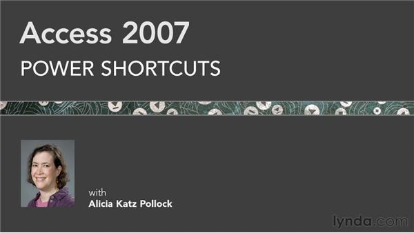 Goodbye: Access 2007 Power Shortcuts