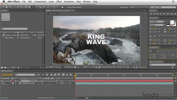 Understanding shortcuts for setting type in AE: After Effects: Principles of Motion Graphics