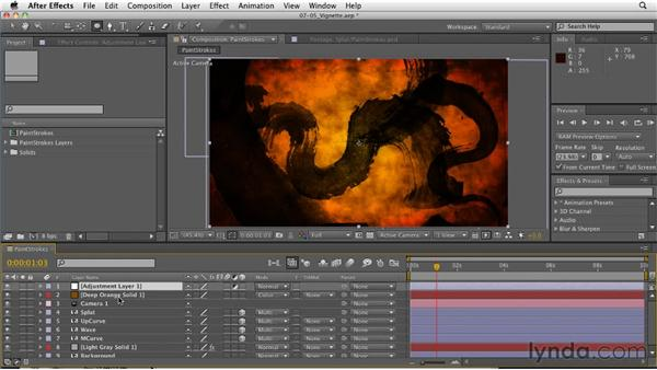 Creating custom vignettes: After Effects: Principles of Motion Graphics
