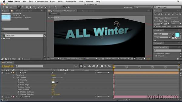 Understanding lighting in After Effects: After Effects: Principles of Motion Graphics