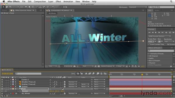 Adding polish to a light setup: After Effects: Principles of Motion Graphics