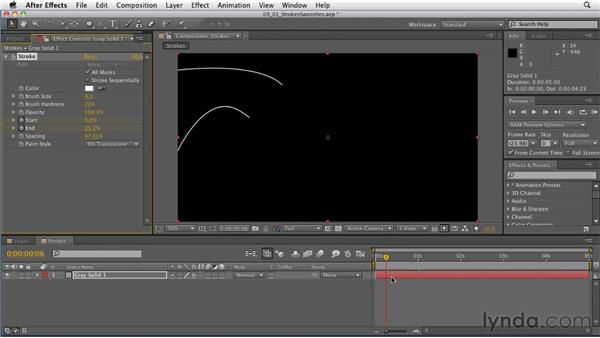 Animating swoops and swooshes: After Effects: Principles of Motion Graphics