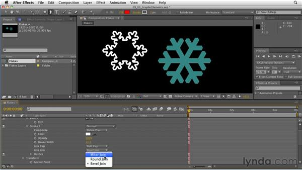 Repeating patterns with shape layers: After Effects: Principles of Motion Graphics
