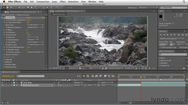 Exploring video transitions: After Effects: Principles of Motion Graphics