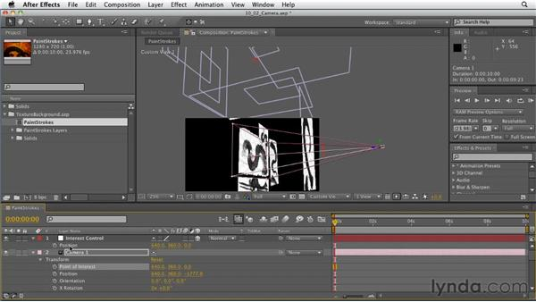 Rigging cameras for animation: After Effects: Principles of Motion Graphics