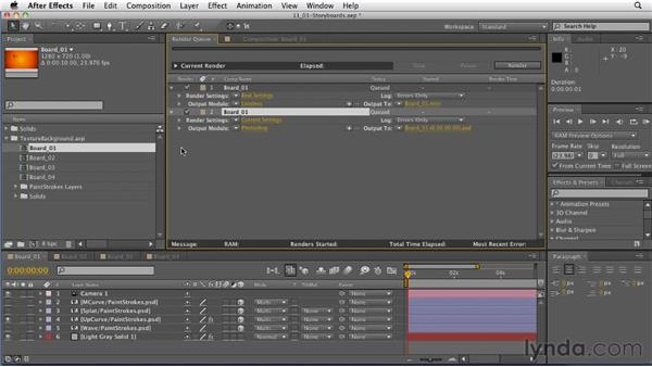 Creating storyboards in After Effects: After Effects: Principles of Motion Graphics
