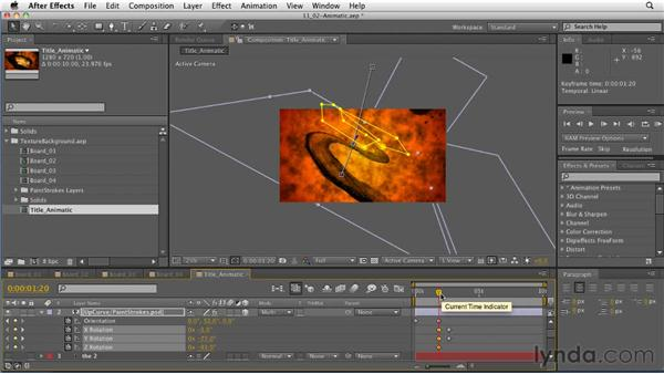 Creating an animatic: After Effects: Principles of Motion Graphics