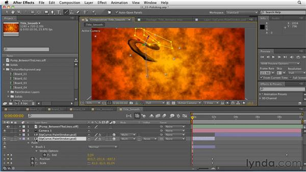 Polishing the animation and timing: After Effects: Principles of Motion Graphics