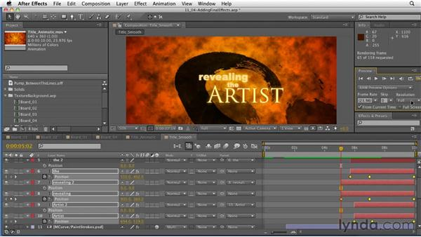 Applying the final effects: After Effects: Principles of Motion Graphics