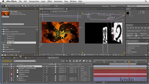 Preparing templates: After Effects: Principles of Motion Graphics