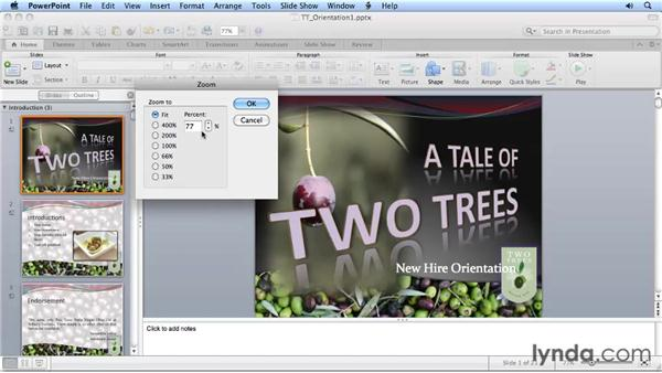 Adjusting slide sizes: Migrating from PowerPoint 2008 for Mac to PowerPoint 2011