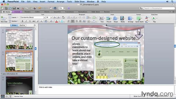 Arranging layered objects: Migrating from PowerPoint 2008 for Mac to PowerPoint 2011