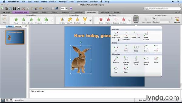 Animating objects on a path: Migrating from PowerPoint 2008 for Mac to PowerPoint 2011