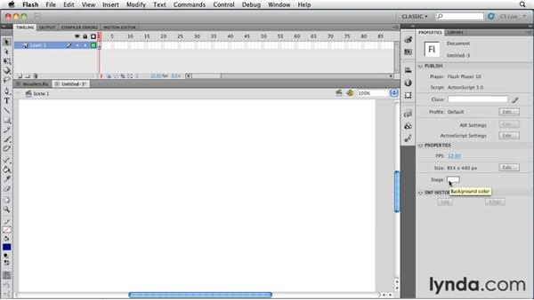 Creating a file in Device Central: Flash Professional CS5: Creating a Simple Game for Android Devices
