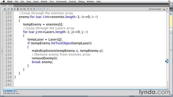 Removing assets from the stage: Flash Professional CS5: Creating a Simple Game for Android Devices