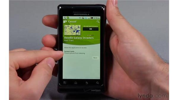 Downloading from the Android market: Flash Professional CS5: Creating a Simple Game for Android Devices
